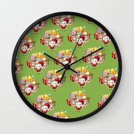 Christmas Sheeping Wall Clock
