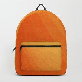 Shades of Sun - Line Gradient Pattern between Light Orange and Pale Orange Backpack