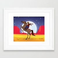 cowboy Framed Art Prints featuring Cowboy by Nick's Emporium Gallery