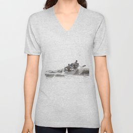 Wave riders Unisex V-Neck