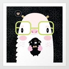 Monster and dog Art Print