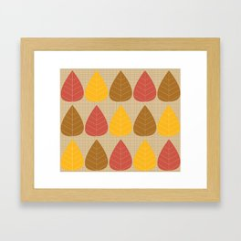 Autumn Big Leaves Framed Art Print