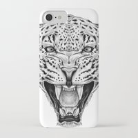 leopard iPhone & iPod Cases featuring Leopard by Libby Watkins Illustration