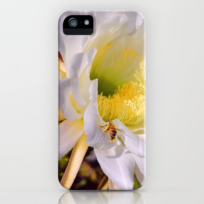 """Cactus Flower And Friend #1"" Photograph iPhone Case"