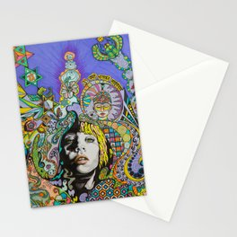 Green Scarab Stationery Cards