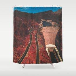 A Cross Fire Shower Curtain