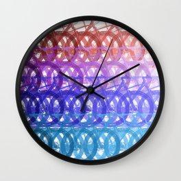 Mountain bike palette Wall Clock