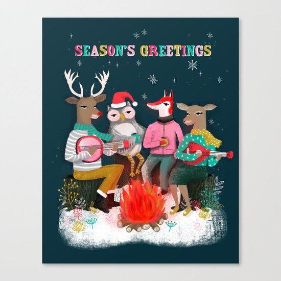 Fireside Christmas by Andrea Lauren  Canvas Print