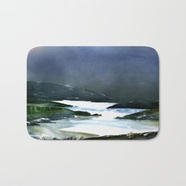 Icy white waters in forest black onyx mountains Bath Mat
