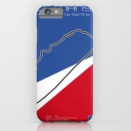 Le Mans Racetrack  iPhone Case