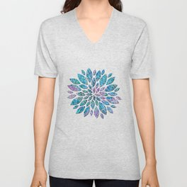 Floral Abstract 33 Unisex V-Neck