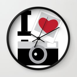 I love camera Wall Clock