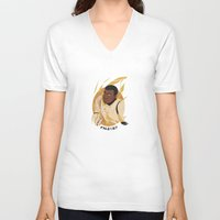 finn V-neck T-shirts featuring Finn by Zimeta