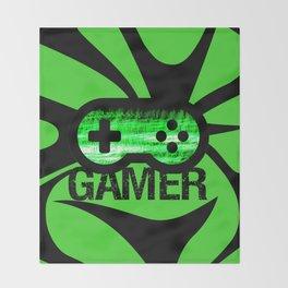Gamer Green V2 Throw Blanket