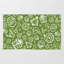 XMAS Green Pattern / Part One Rug