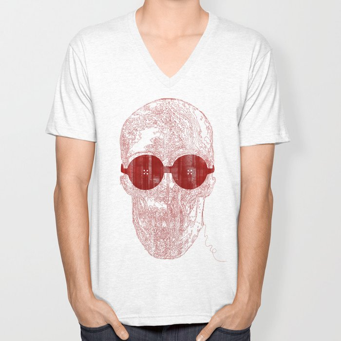 Unravel skull Unisex V-Neck