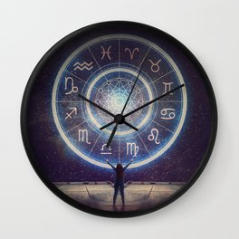 Astrological night Wall Clock