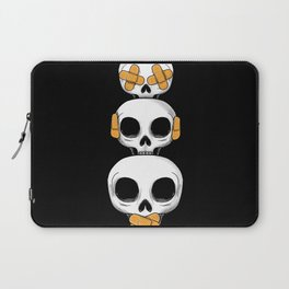 Cute Skulls No Evil II Laptop Sleeve