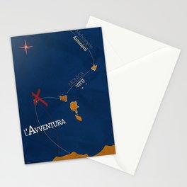 L'avventura, Monica Vitti, Michelangelo Antonioni, italian cinema, film, sea adventures, hollywood Stationery Cards