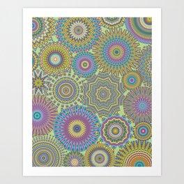 Kaleidoscopic-Jardin colorway Art Print