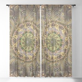 Frond Flinger Jamboree Sheer Curtain