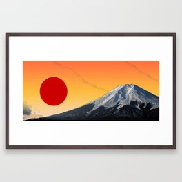 Rising Sun on Fuji Framed Art Print
