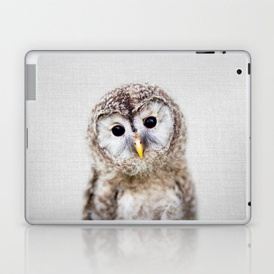 Baby Owl - Colorful Laptop & iPad Skin