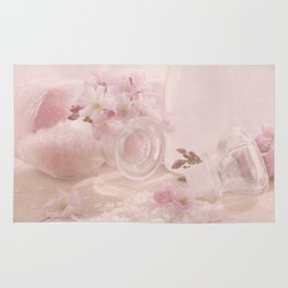 Almond blossoms in Vintage Style Rug
