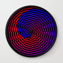 Red & Blue Spiral Wall Clock