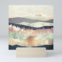 Golden Spring Reflection Mini Art Print