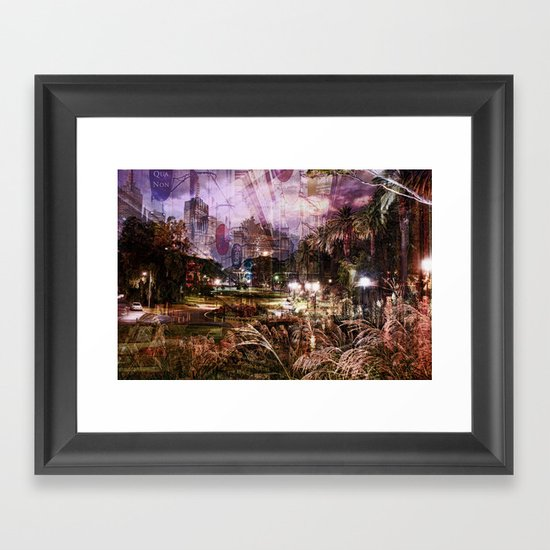 Double Exposure Art Framed Art Print