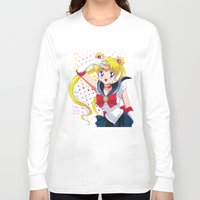 sailor moon Long Sleeve T-shirts featuring Sailor Moon  by Neo Crystal Tokyo