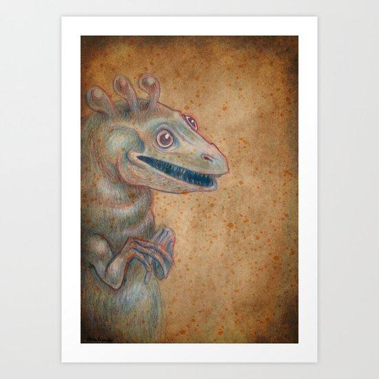 Medieval monster XVII Art Print