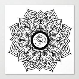 Om Hindu sacred sound symbol Mandala Canvas Print