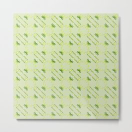Baroque style lime pattern. Metal Print