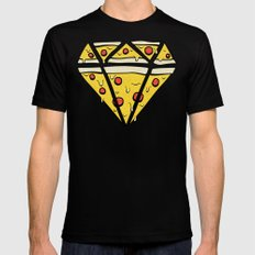 Pizzas are Forever Mens Fitted Tee MEDIUM Black