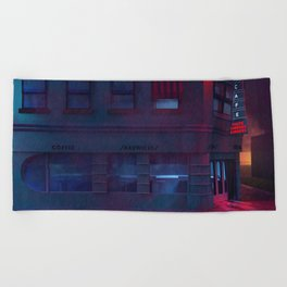 Back To The Future Lou's Cafe Beach Towel