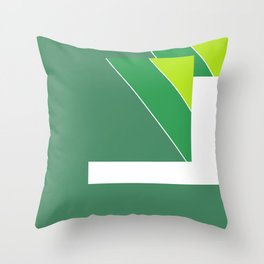 Greens Pattern Throw Pillow