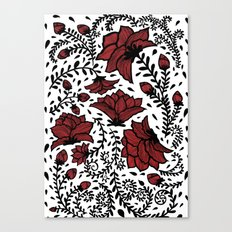 Red Flower Garden Canvas Print