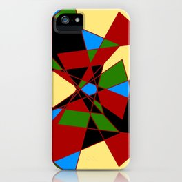Shattered Multi-Color Geometric iPhone Case