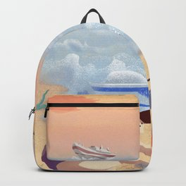 Boy On The Beach Backpack