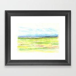 Sea meadow Framed Art Print