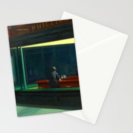 Nighthawks Painting Restored Edward Hopper Stationery Cards