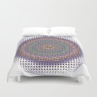 ohm Duvet Covers featuring Ohm Mandala by SRC Creations