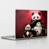 pandas Laptop & iPad Skins featuring Pandas by J ō v