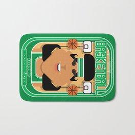 Basketball Green - Alleyoop Buzzerbeater - Indie version Bath Mat