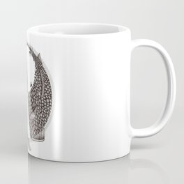 Pisces - Fish Koi - Japanese Tattoo Style (black and white) Coffee Mug