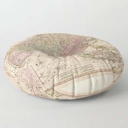 Bowles's Map of Asia (1791) Floor Pillow