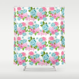 Shabby Chic Floral Tropical Bouquet Shower Curtain