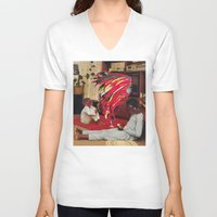 tv V-neck T-shirts featuring Television by Lerson